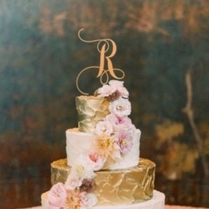 """Other - Wedding cake topper! """"R"""""""